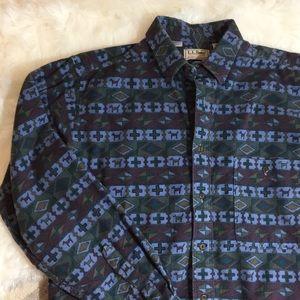 VTG 1991 LL Bean Chamois Flannel Shirt, M